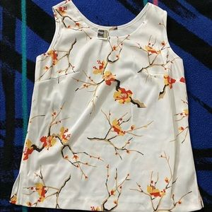 Ample Togs California Sleeveless Blouse Floral
